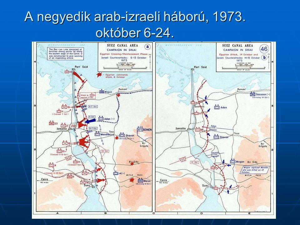 A negyedik arab-izraeli háború, 1973. október 6-24.