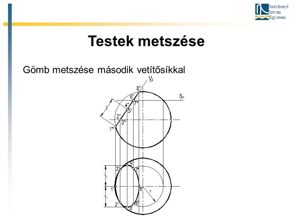 Széchenyi István Egyetem Testek metszése Gömb metszése második vetítősíkkal