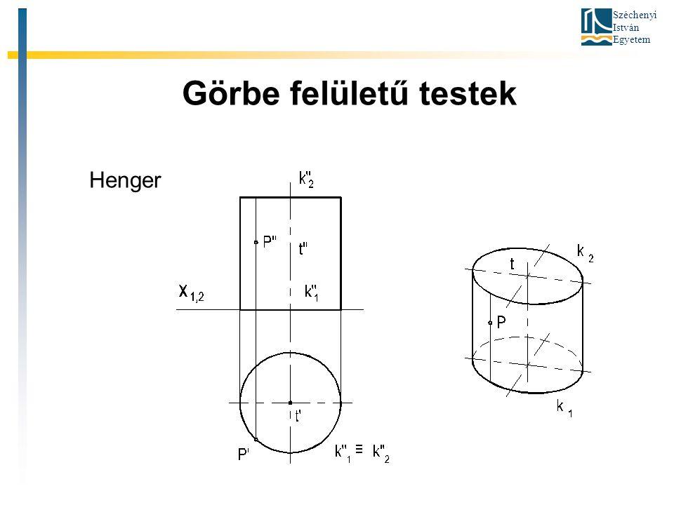 Széchenyi István Egyetem Görbe felületű testek Henger