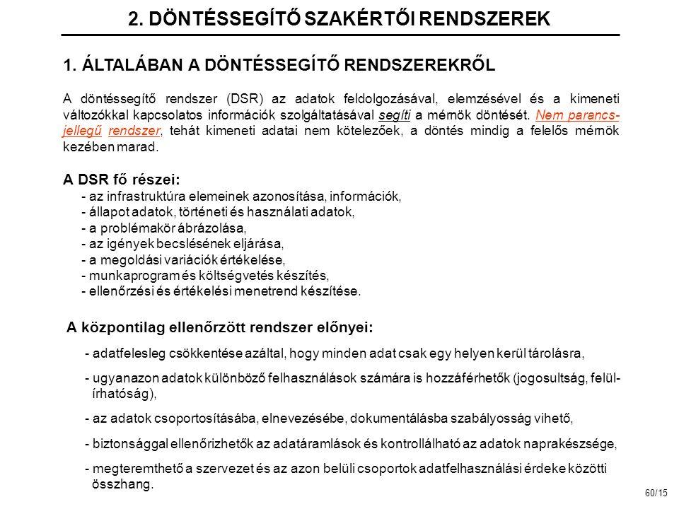 2.DÖNTÉSSEGÍTŐ SZAKÉRTŐI RENDSZEREK 1.