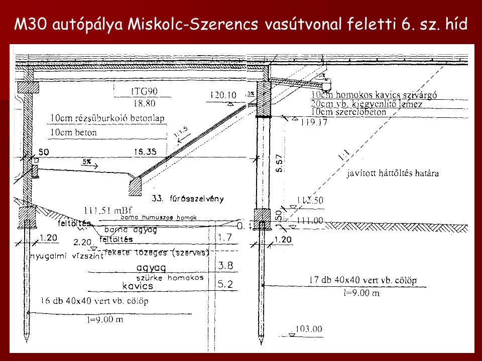 M30 autópálya Miskolc-Szerencs vasútvonal feletti 6. sz. híd