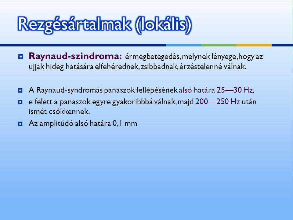  Raynaud-szindroma: érmegbetegedés, melynek lényege,hogy az ujjak hideg hatására elfehérednek, zsibbadnak, érzéstelenné válnak.  A Raynaud-syndromás