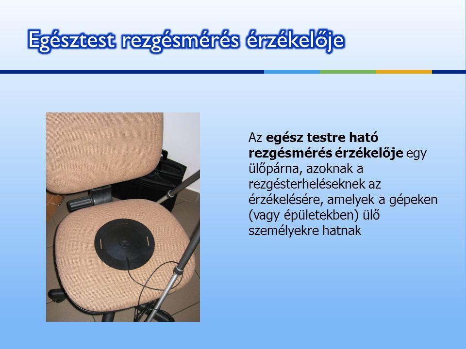 Az egész testre ható rezgésmérés érzékelője egy ülőpárna, azoknak a rezgésterheléseknek az érzékelésére, amelyek a gépeken (vagy épületekben) ülő szem