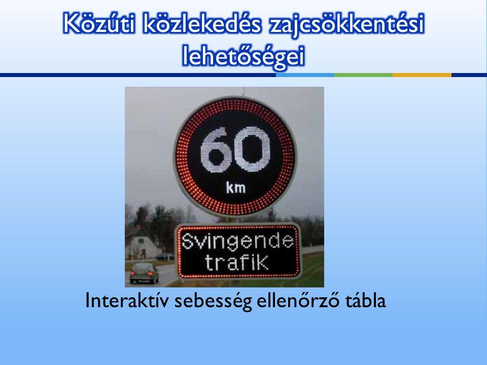 Interaktív sebesség ellenőrző tábla