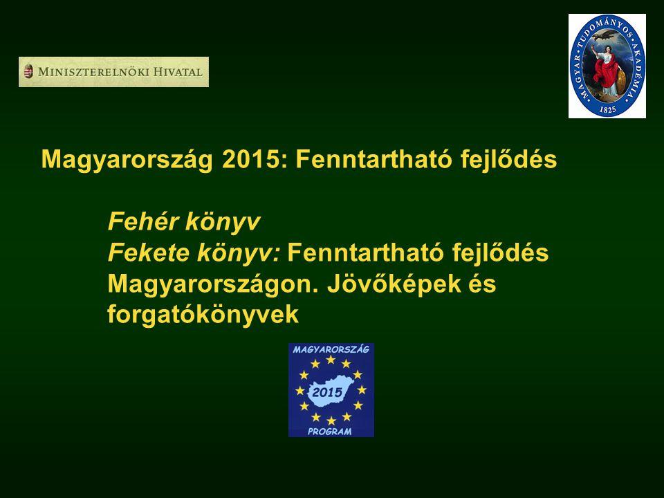 Magyarország 2015: Fenntartható fejlődés Fehér könyv Fekete könyv: Fenntartható fejlődés Magyarországon. Jövőképek és forgatókönyvek