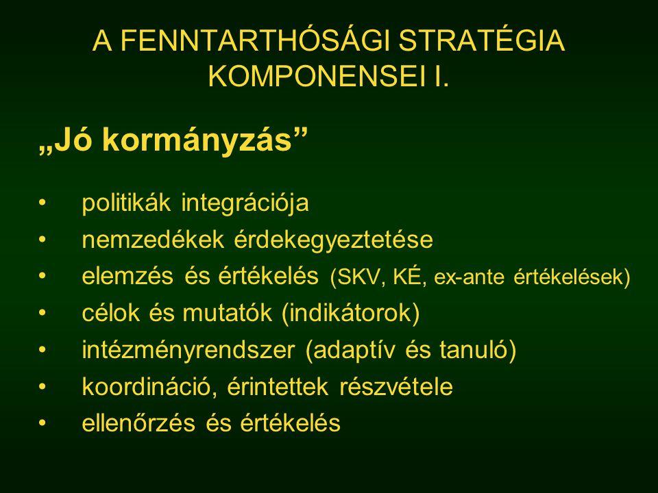 A FENNTARTHÓSÁGI STRATÉGIA KOMPONENSEI I.