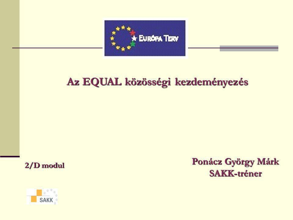 Az EQUAL közösségi kezdeményezés 2/D modul Ponácz György Márk SAKK-tréner