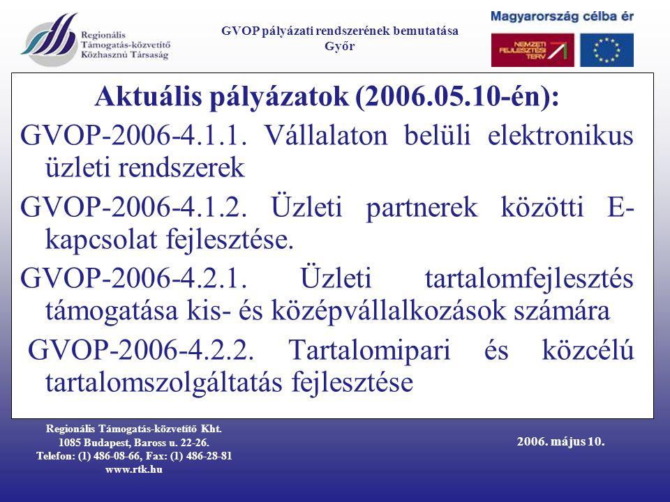 Regionális Támogatás-közvetítő Kht.1085 Budapest, Baross u.