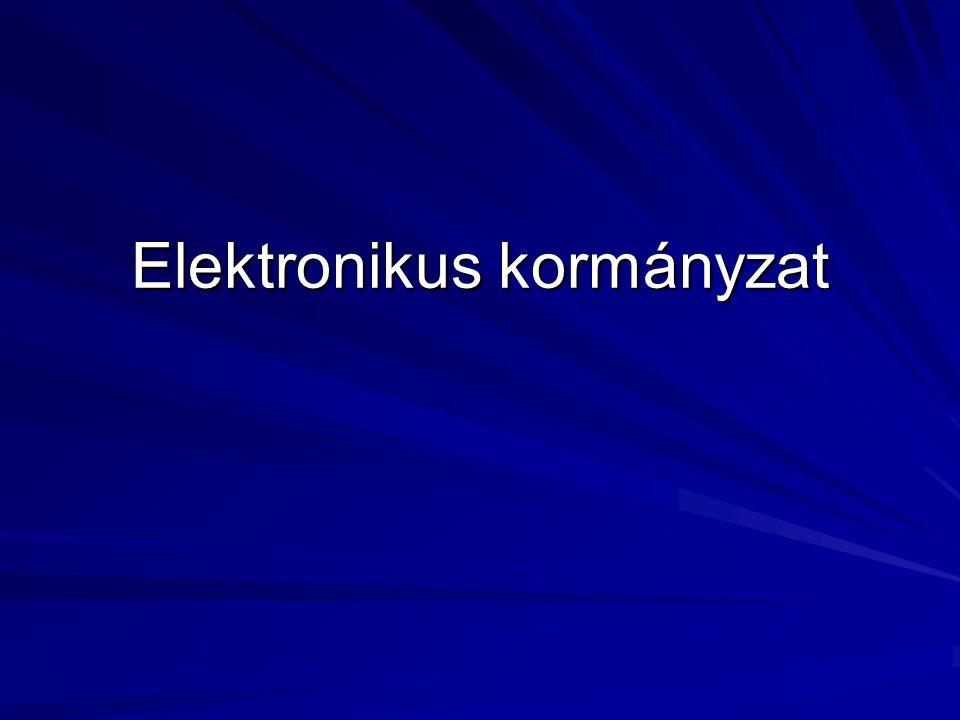 Definíció: ekormányzat Az elektronikus kormányzat (e-kormányzat) kifejezés mára mind a köznyelvben mind az állami zsargonban egy univerzális jövőkép- javító tényezővé nőtte ki magát.