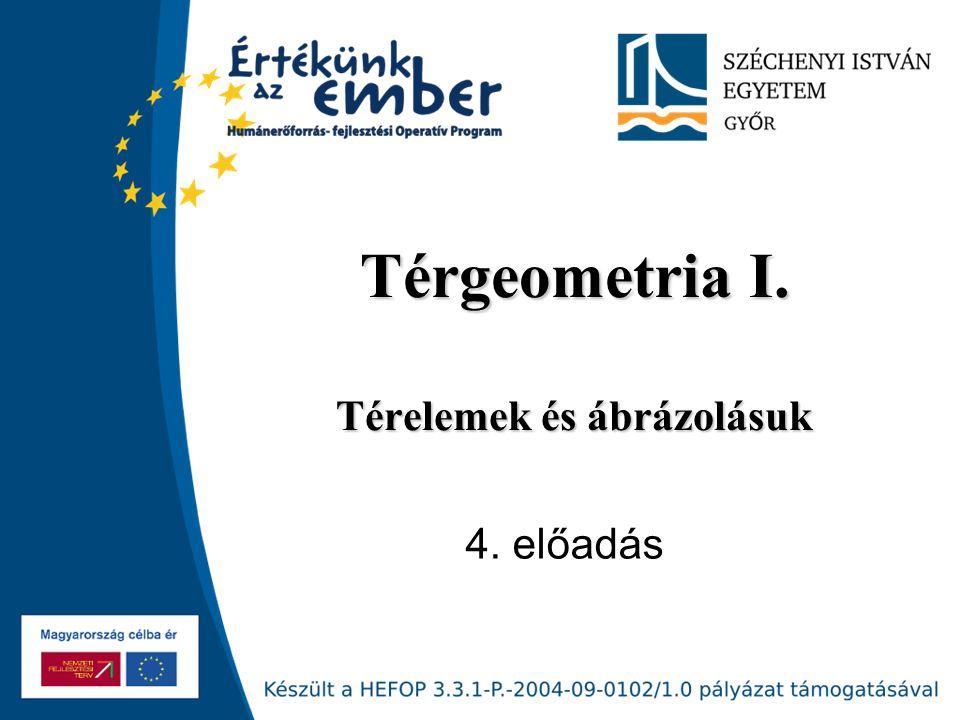 Széchenyi István Egyetem Különleges egyenesek Különleges egyenesek Harmadik vetítőegyenes