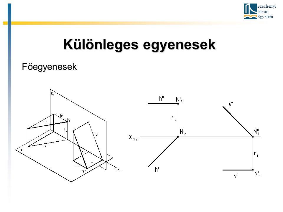 Széchenyi István Egyetem Különleges egyenesek Különleges egyenesek Főegyenesek