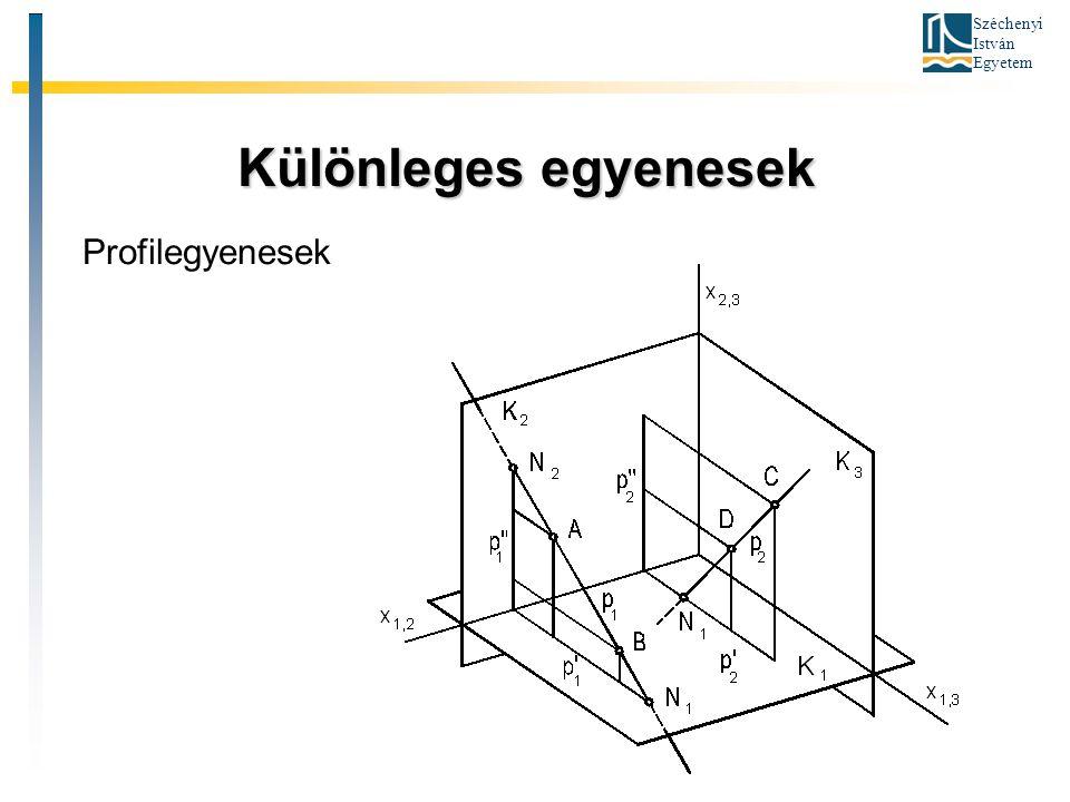 Széchenyi István Egyetem Különleges egyenesek Különleges egyenesek Profilegyenesek