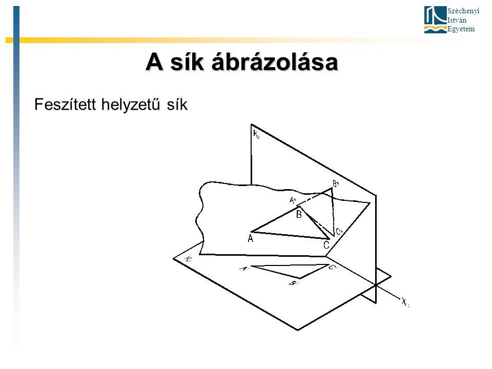 Széchenyi István Egyetem A sík ábrázolása A sík ábrázolása Feszített helyzetű sík
