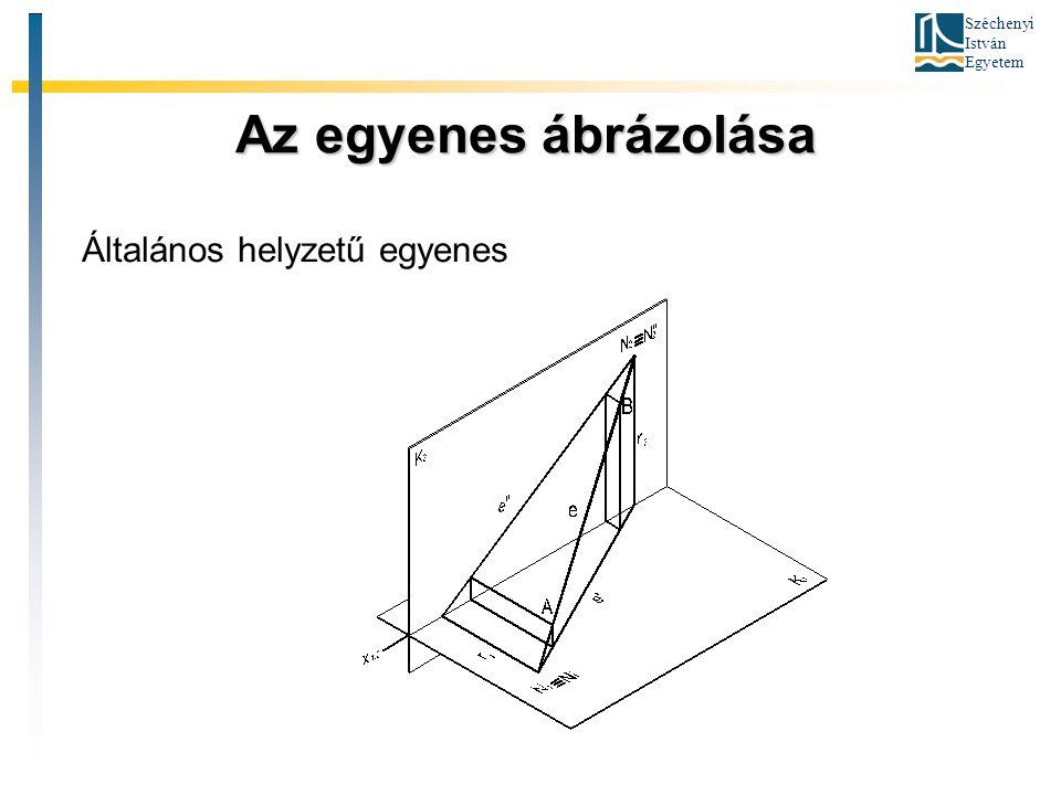 Széchenyi István Egyetem A sík ábrázolása A sík ábrázolása Két különleges egyenesével (nyomvonalaival)