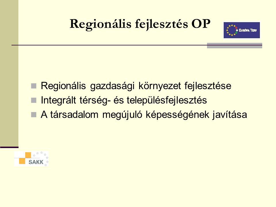 Humán erőforrások fejlesztése OP Aktív munkaerő-piaci politikák Hátrányos helyzetűek reintegrációja Alkalmazkodóképesség és vállalkozói ismeretek javí