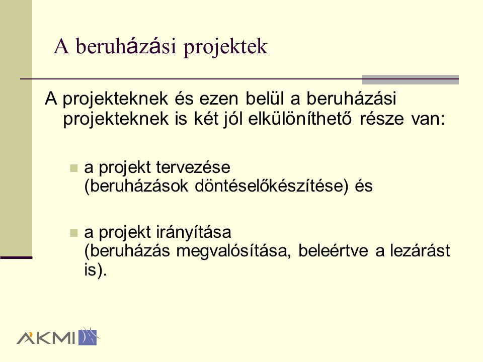 INFRASTRUKTURÁLIS PROJEKTEK TERVEZÉSE