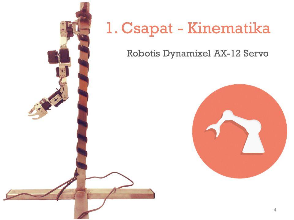 1. Csapat - Kinematika 4 Robotis Dynamixel AX-12 Servo