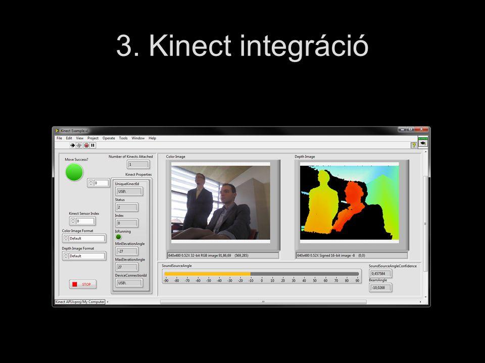 3. Kinect integráció
