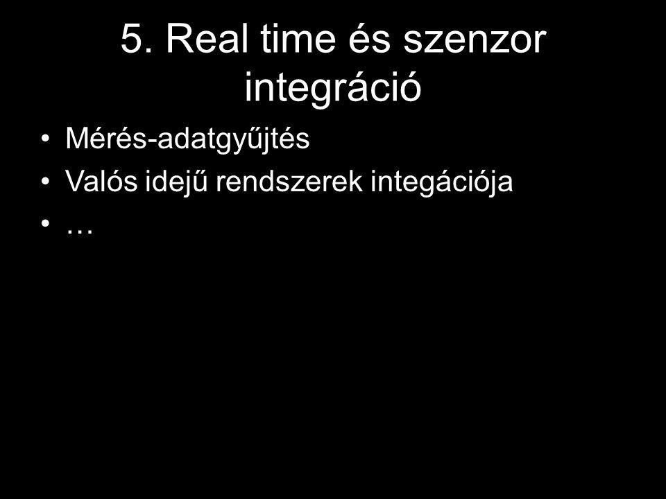 5. Real time és szenzor integráció Mérés-adatgyűjtés Valós idejű rendszerek integációja …