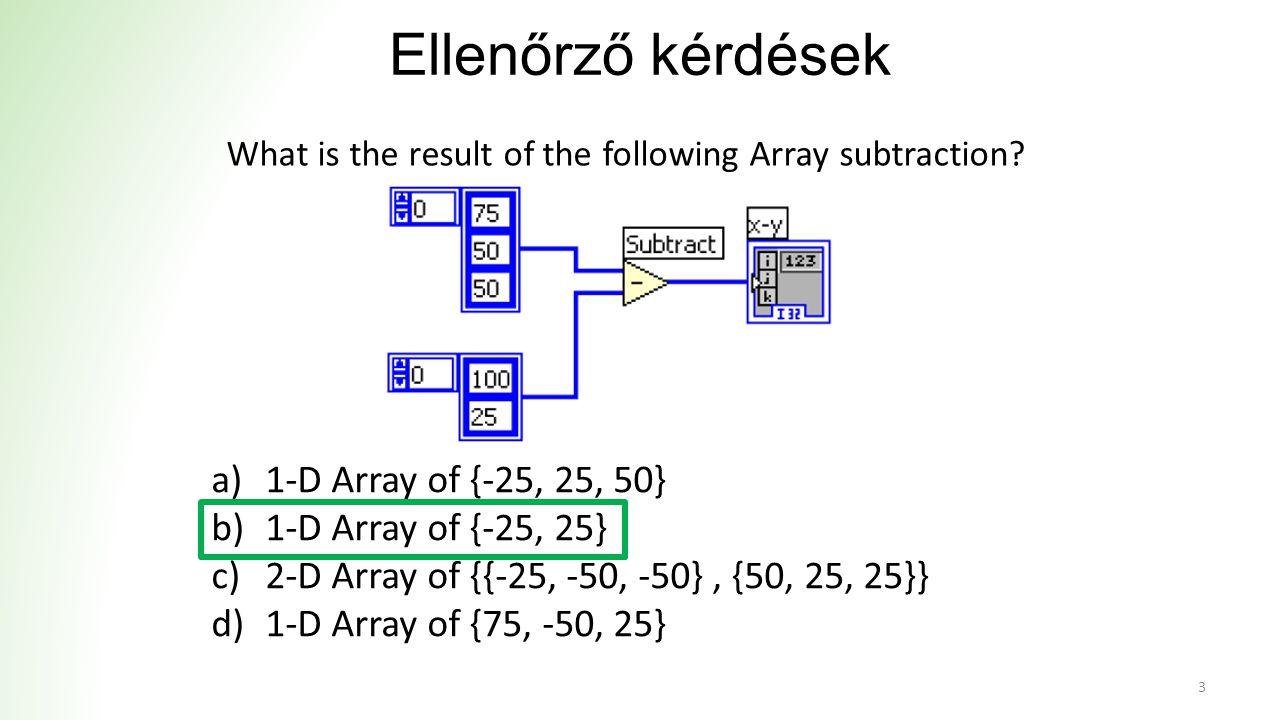 Ellenőrző kérdések a)The loop will iterate 51 times.