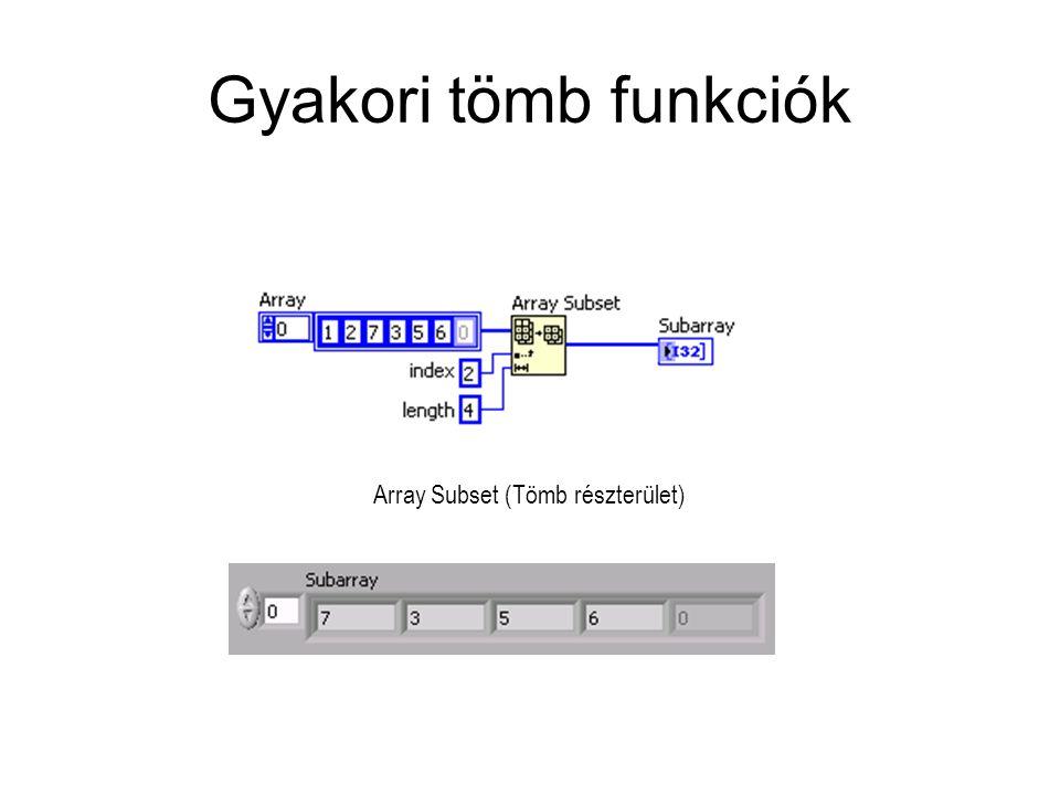 Gyakori tömb funkciók Array Subset (Tömb részterület)