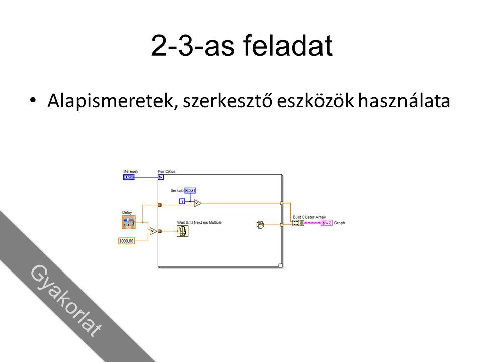 2D tömb létrehozása A belső ciklus a sorokat, míg A külső ciklus az oszlopokat hozza létre 1D Array 0 1 2 3 4 5 2D Array