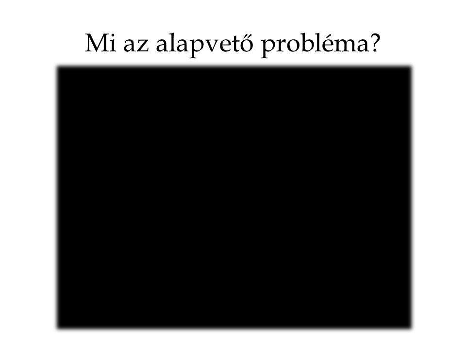 Mi az alapvető probléma?