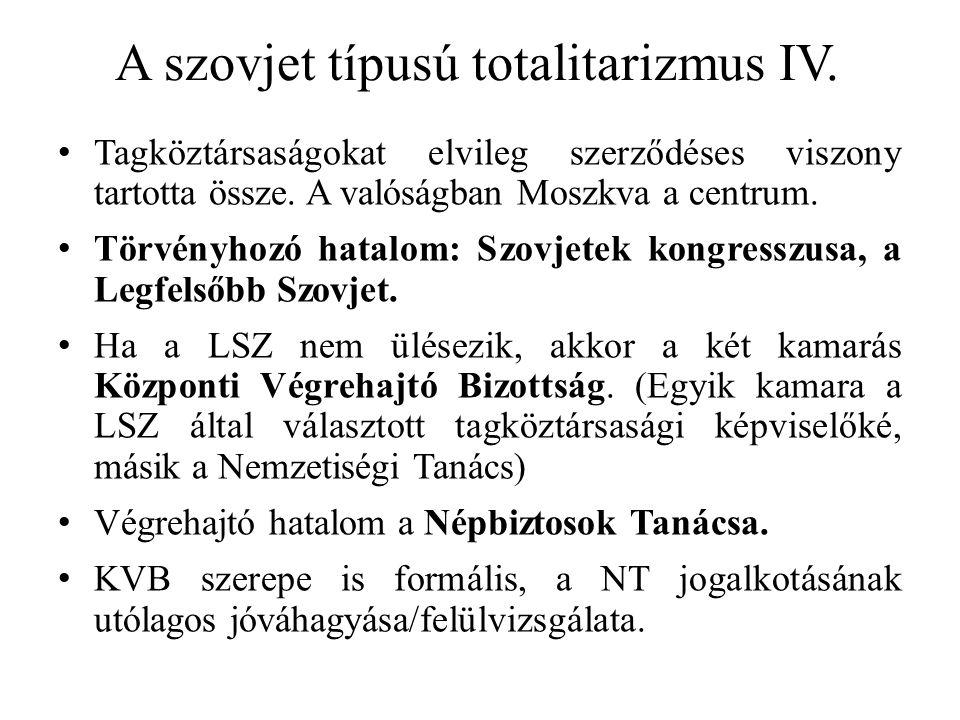A szovjet típusú totalitarizmus V.