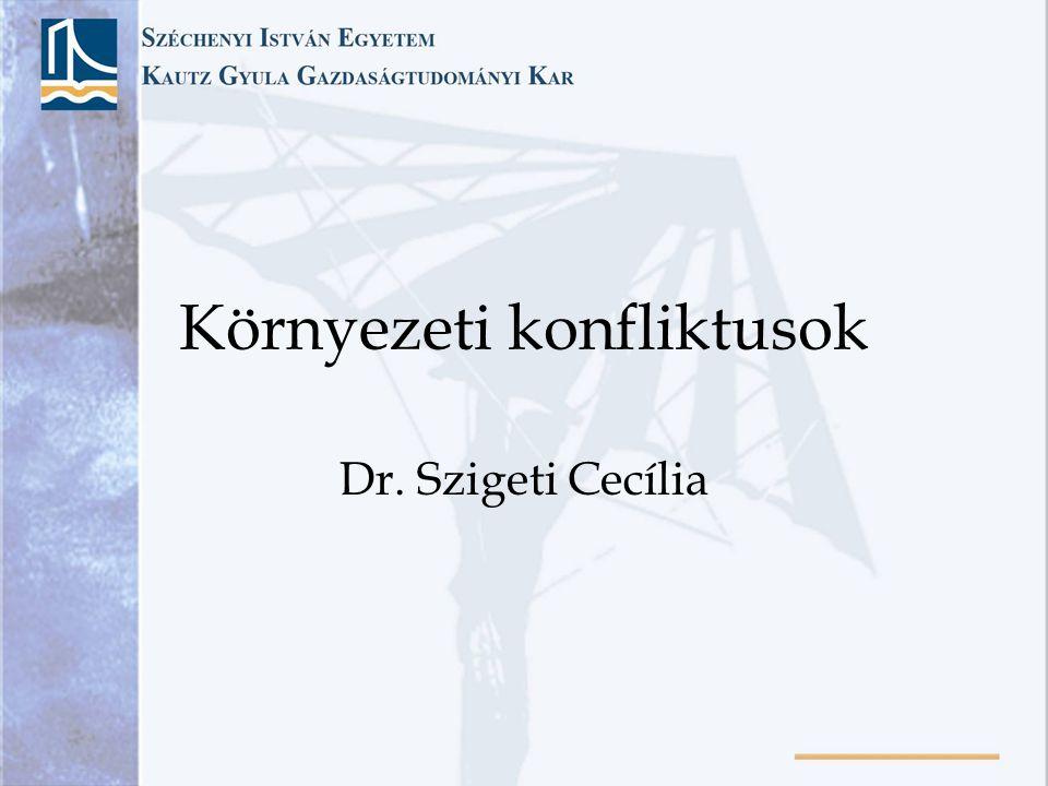 Környezeti konfliktusok Dr. Szigeti Cecília