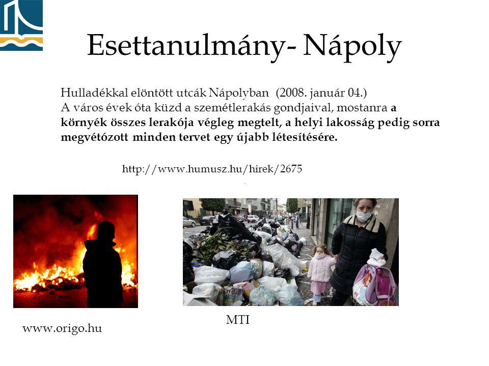 www.origo.hu MTI Hulladékkal elöntött utcák Nápolyban (2008.