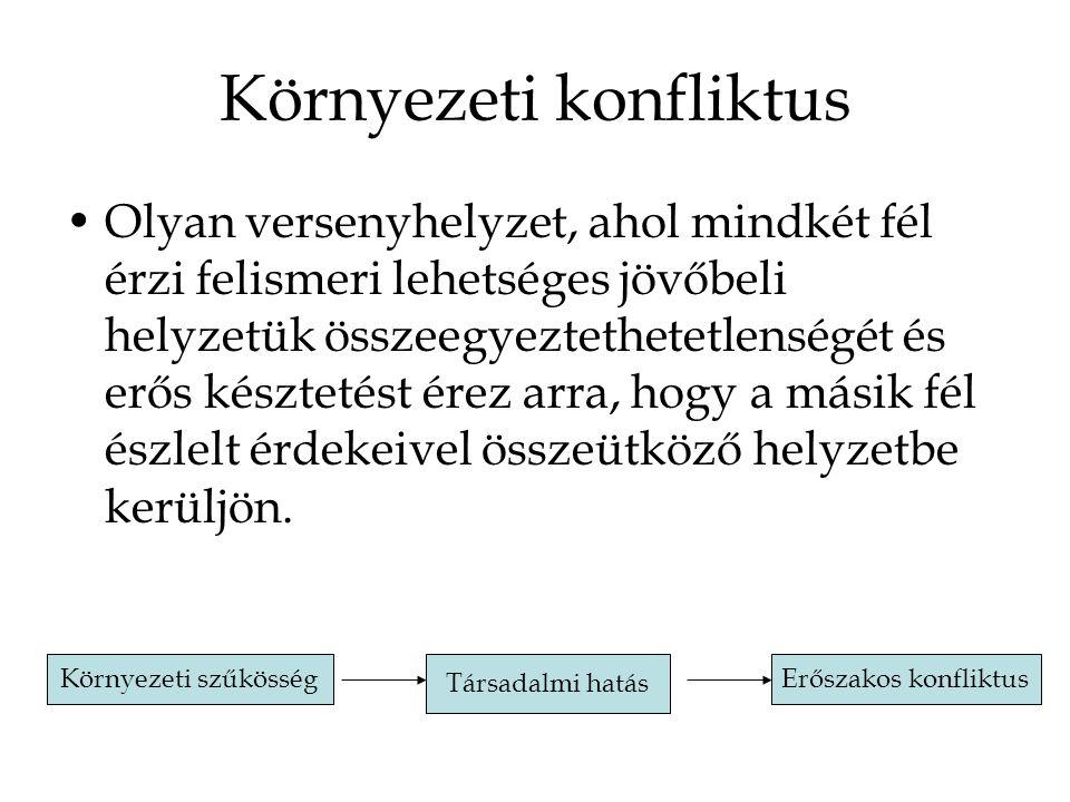 Helyi környezetvédelmi konfliktus Pl.