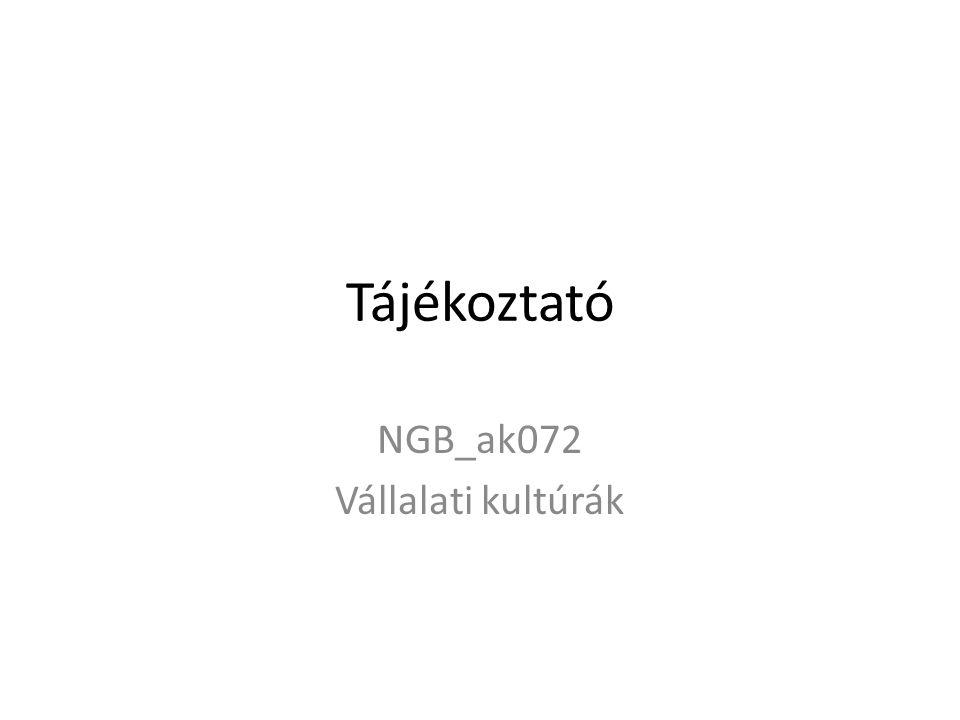 Tájékoztató NGB_ak072 Vállalati kultúrák