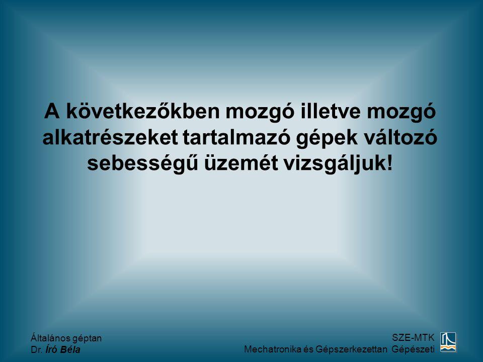 Általános géptan Dr.Író Béla SZE-MTK Mechatronika és Gépszerkezettan Gépészeti Tömör tárcsa ill.