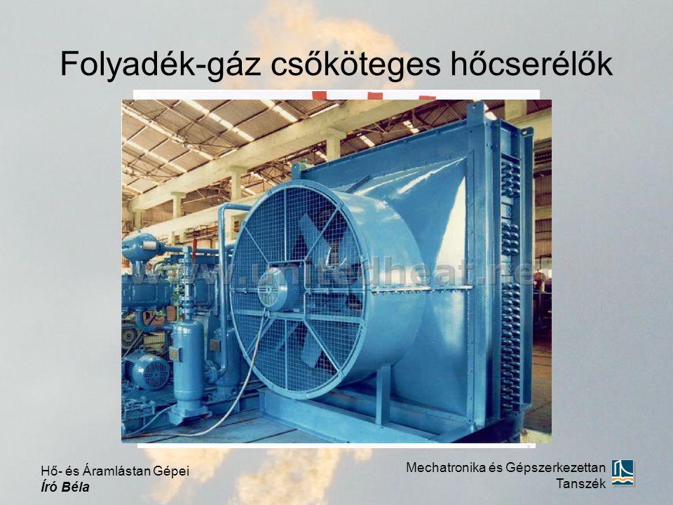 Folyadék-gáz csőköteges hőcserélők Mechatronika és Gépszerkezettan Tanszék Hő- és Áramlástan Gépei Író Béla