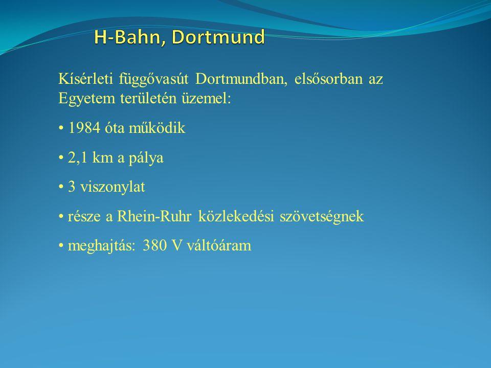 Kísérleti függővasút Dortmundban, elsősorban az Egyetem területén üzemel: 1984 óta működik 2,1 km a pálya 3 viszonylat része a Rhein-Ruhr közlekedési szövetségnek meghajtás: 380 V váltóáram