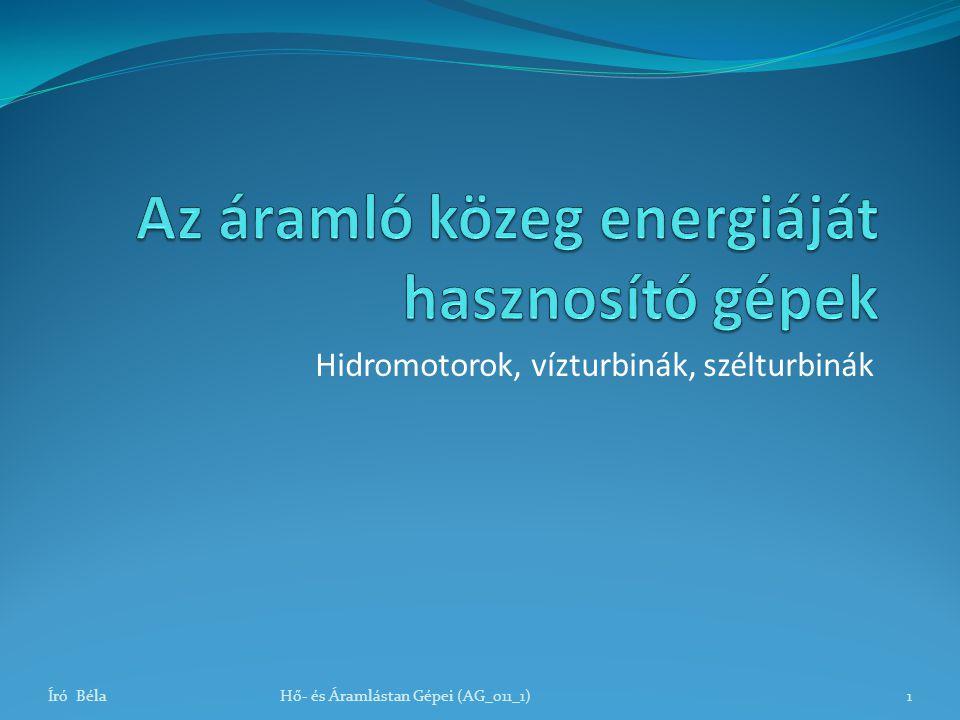 A Kaplan-turbina Író BélaHő- és Áramlástan Gépei (AG_011_1)32