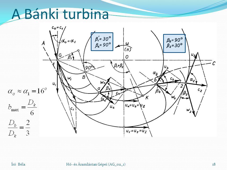 A Bánki turbina Író BélaHő- és Áramlástan Gépei (AG_011_1)18