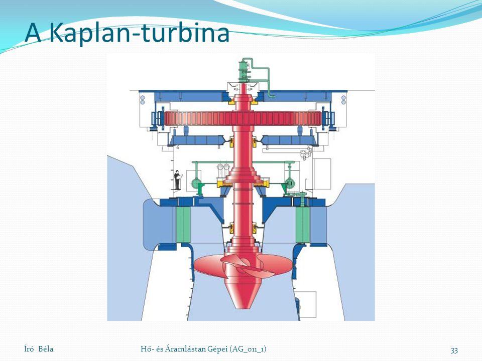 A Kaplan-turbina Író BélaHő- és Áramlástan Gépei (AG_011_1)33