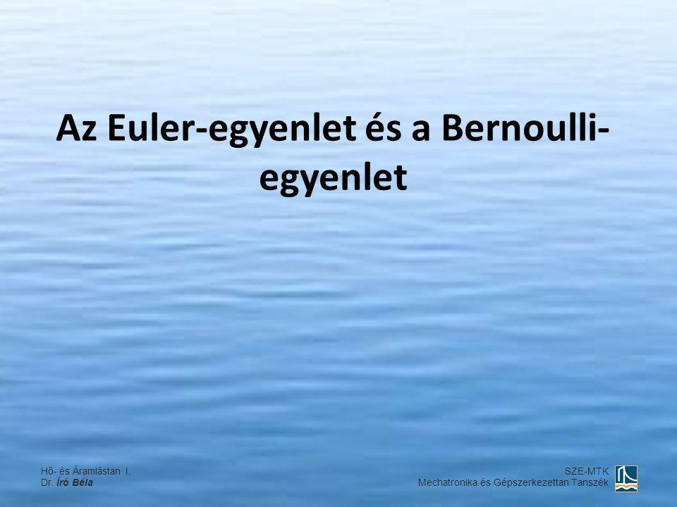 Az Euler-egyenlet és a Bernoulli- egyenlet Hő- és Áramlástan I. Dr. Író Béla SZE-MTK Mechatronika és Gépszerkezettan Tanszék