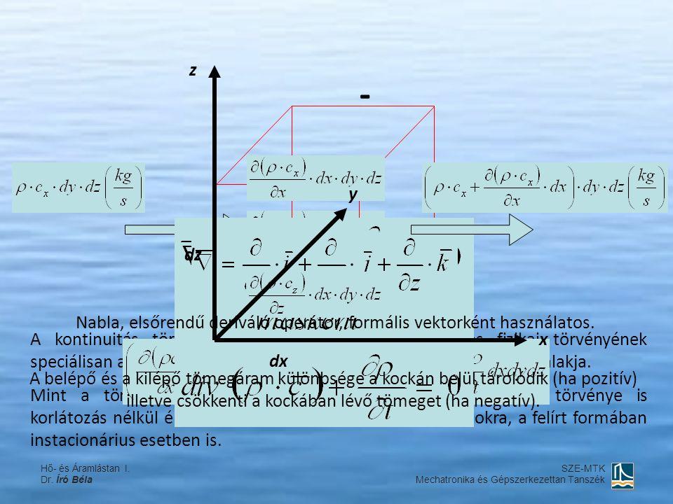 A kontinuitás törvénye a tömegmegmaradás általános fizikai törvényének speciálisan az áramló kontínuumokra vonatkozóan megfogalmazott alakja. Mint a t
