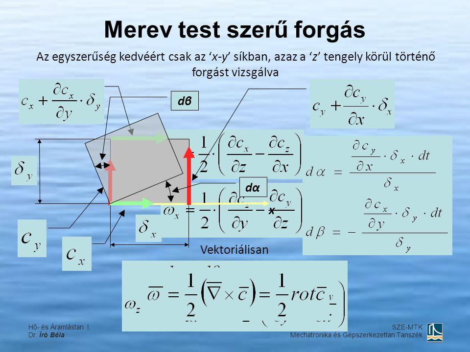 A vektoriális szorzat kifejtési szabálya Hő- és Áramlástan I.