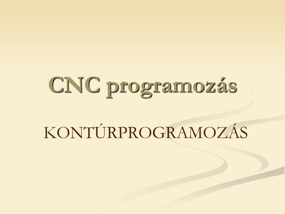 CNC programozás KONTÚRPROGRAMOZÁS