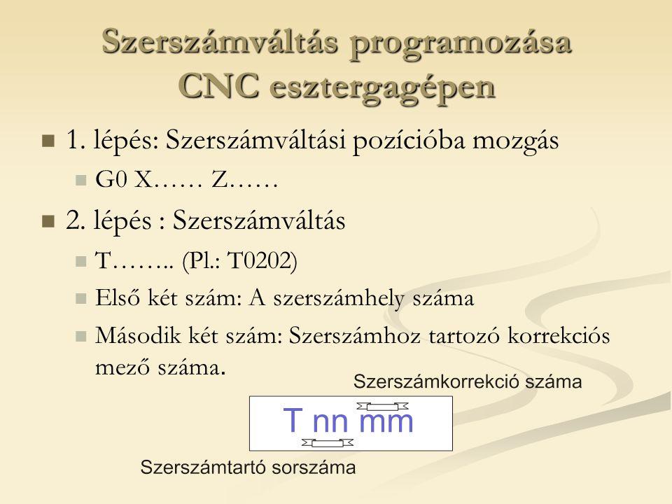 Szerszámváltás programozása CNC esztergagépen 1.