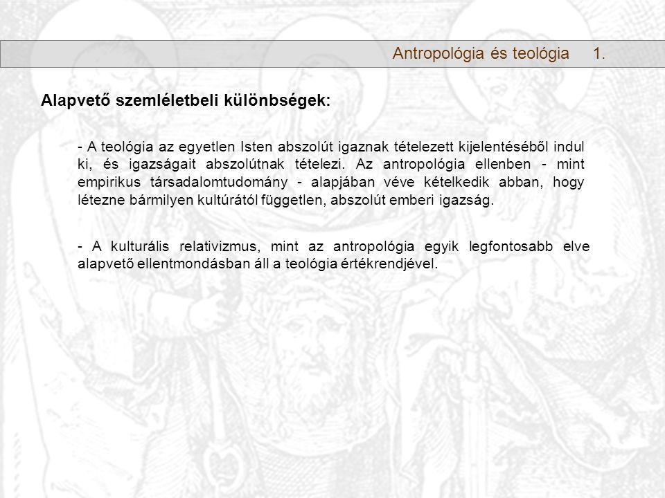 Antropológia és teológia1.