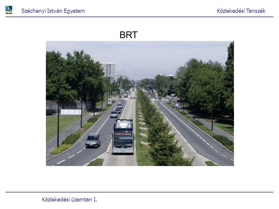 Széchenyi István EgyetemKözlekedési Tanszék Közlekedési üzemtan I. BRT