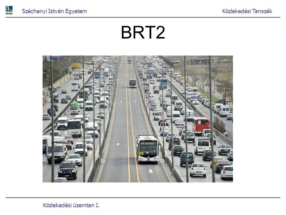 Széchenyi István EgyetemKözlekedési Tanszék Közlekedési üzemtan I. BRT2