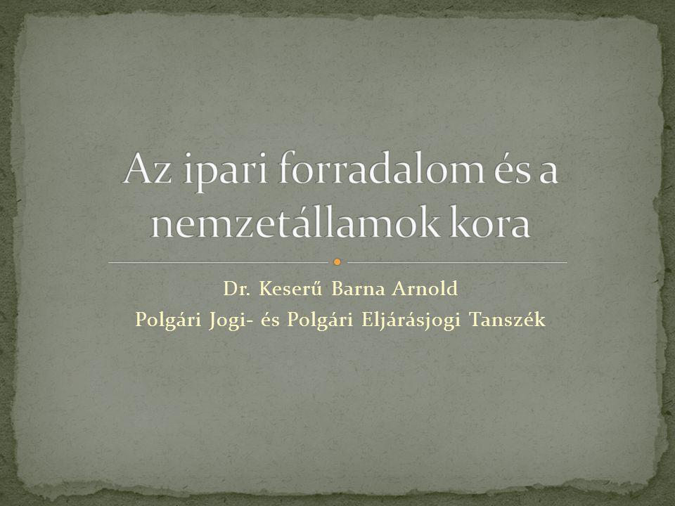 Dr. Keserű Barna Arnold Polgári Jogi- és Polgári Eljárásjogi Tanszék