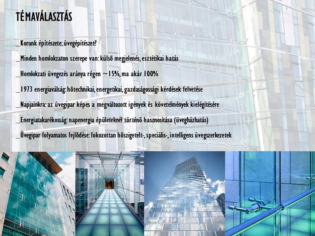 TÉMAVÁLASZTÁS _Korunk építészete: üvegépítészet.