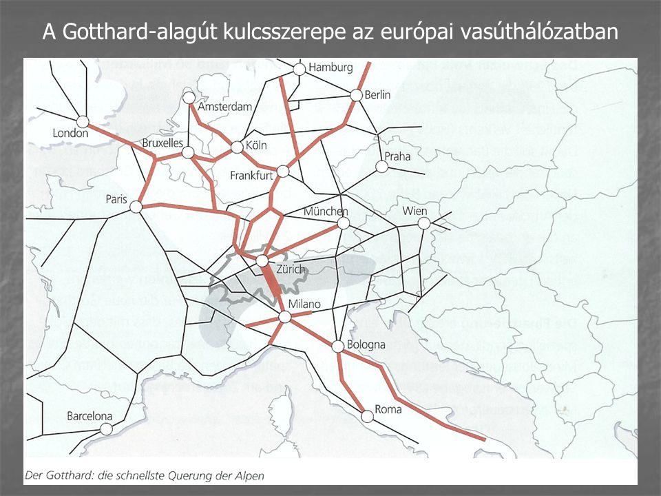A Gotthard-alagút kulcsszerepe az európai vasúthálózatban