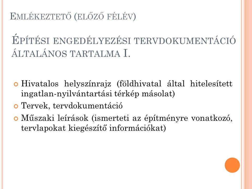 T ARTÓSZERKEZETI DOKUMENTÁCIÓ II.
